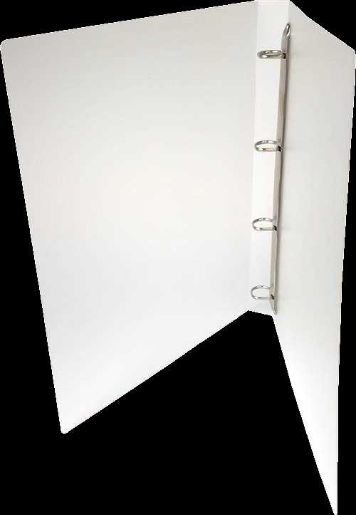 A4 Portrait White Polypropylene Ring Binder with 15mm capacity 4 D ring