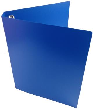 A4 Portrait Blue Polypropylene Ring Binder 25mm capacity 4 D ring with Cover and Spine Pocket
