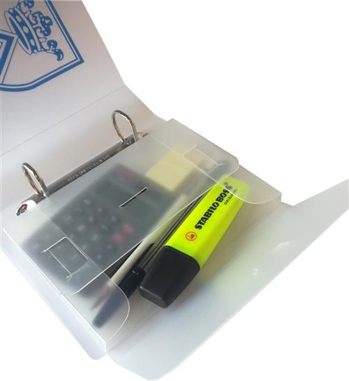 A6 Binder accessories box with 'D' tab fastening