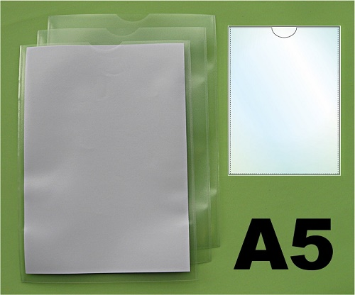 A5 Job Card Holders - Unpunched Pockets in Polypropylene (Pack of 100)